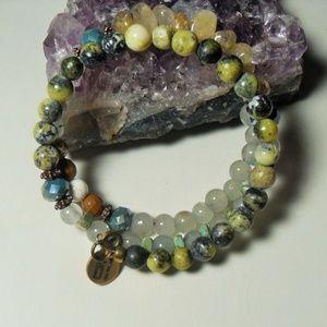 BT Multi gemstone Wrap bracelet